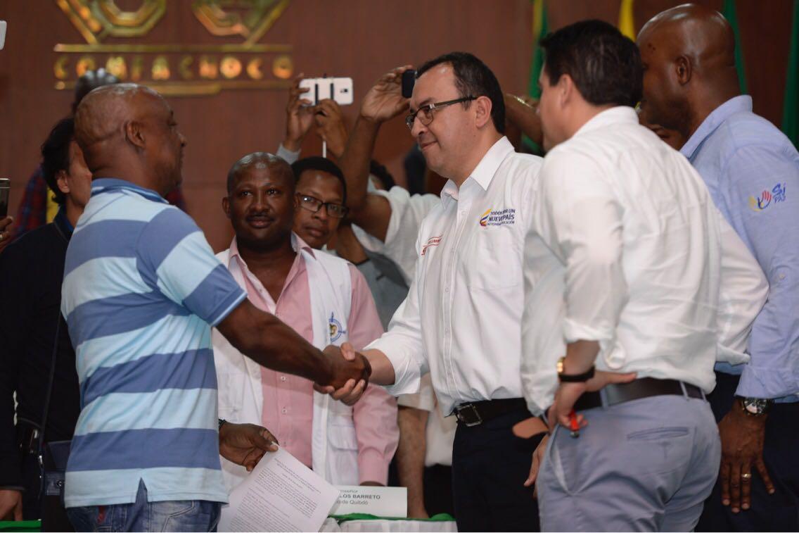 Gobierno Nacional logró acuerdo con Comité del Chocó